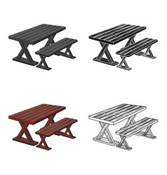 table for restbbq single icon in cartoon style vector image