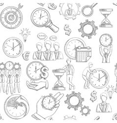Time Management Seamless vector image