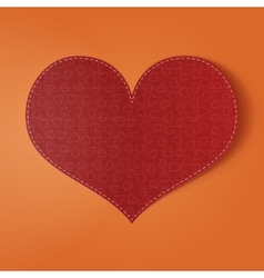 Valentines Day realistic red holiday Card vector
