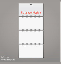 Wall Calendar mock up vector