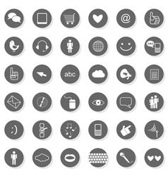 Web multi button set vector image vector image