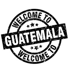 welcome to guatemala black stamp vector image