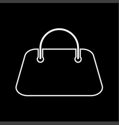 Woman bag it is icon vector