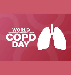 World copd day chronic obstructive pulmonary vector