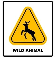 beware deer crossing warning traffic signs vector image
