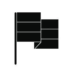Black flag icon vector image