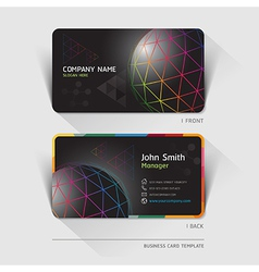 Business card technology background vector image vector image