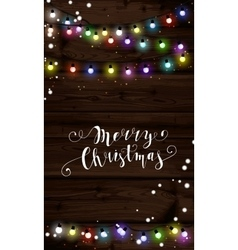 Christmas lights poster with shining and glowing vector image vector image