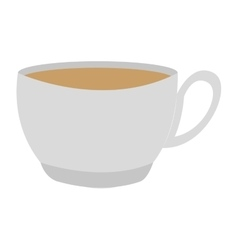 coffee cup delicious isolated icon vector image vector image