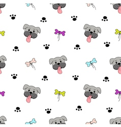 colorful cute dogs seamless pattern vector image