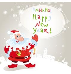 santa claus greeting card 10eps vector image vector image