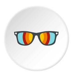 sunglasses icon circle vector image vector image