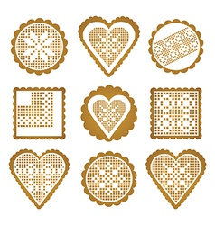 Cookies ginger breads vector image vector image