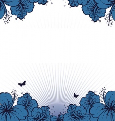 flowers back vector image vector image