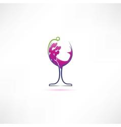 grape wine icon vector image vector image