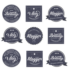 lettering design template vector image vector image