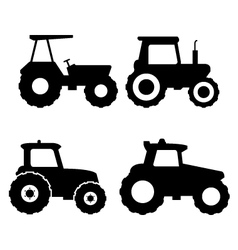 Set of tractors vector