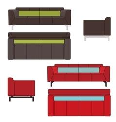 Sofa Set Flat vector image vector image