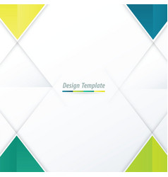 template triangle design green yellow blue vector image vector image