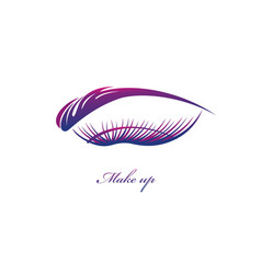 beautiful eye with big lashes vector image