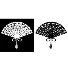 Fan - vintage - silhouettes vector image vector image
