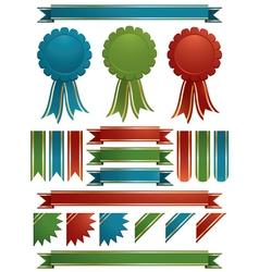 glossy ribbons vector image