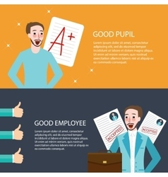 good pupil employee best get A appreciation thumbs vector image vector image