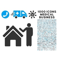 Realty buyer icon with 1000 medical business vector