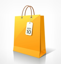 Shopping yellow bag vector image vector image