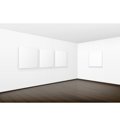 Blank White Posters Pictures Frames on Walls vector image vector image