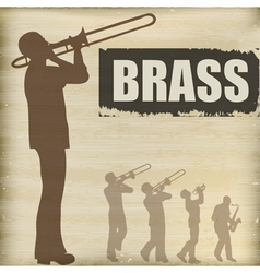 brass band vector image vector image