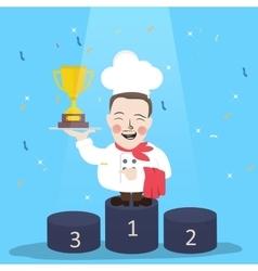 chef winner get trophy career top achievement vector image vector image