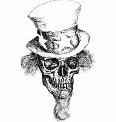 Dead politician illustration vector