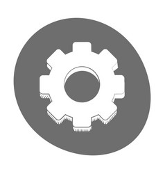 gear engineer work cooperation icon color vector image
