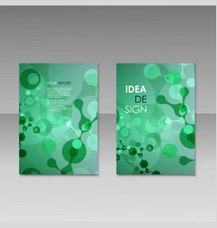 Geometric abstract modern colorful brochure vector