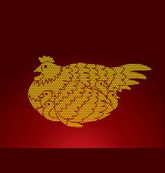 hen with chicken vector image