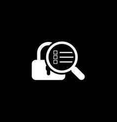 security scan icon flat design vector image vector image