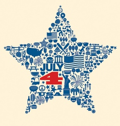 4th july icons symbols collage t-shirt design vector