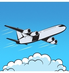 Aircraft retro style pop art air vector