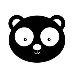 Animal panda cartoon vector