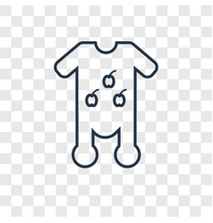 baby clothes concept linear icon isolated on vector image
