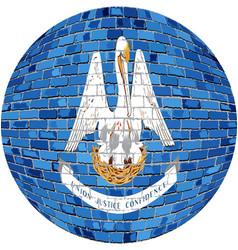 Ball with louisiana flag vector
