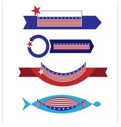 Banner flag american1 vector