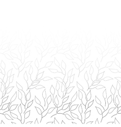 Black and white background with leaves vector image