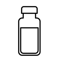 bottle milk isolated icon design vector image