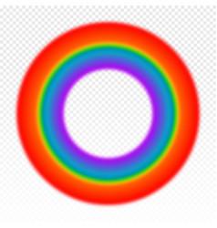 Bright circle rainbow on transparent vector