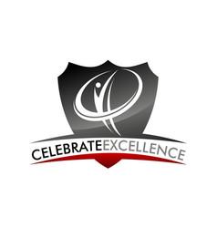 Celebrate excellence logo design template vector