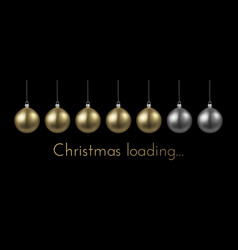 Christmas loading banner with golden christmas vector