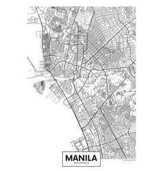 City map manila travel poster design vector