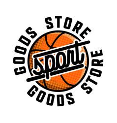 Color vintage sport goods emblem vector